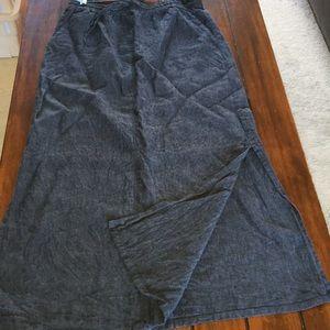 Garnet Hill linen skirt